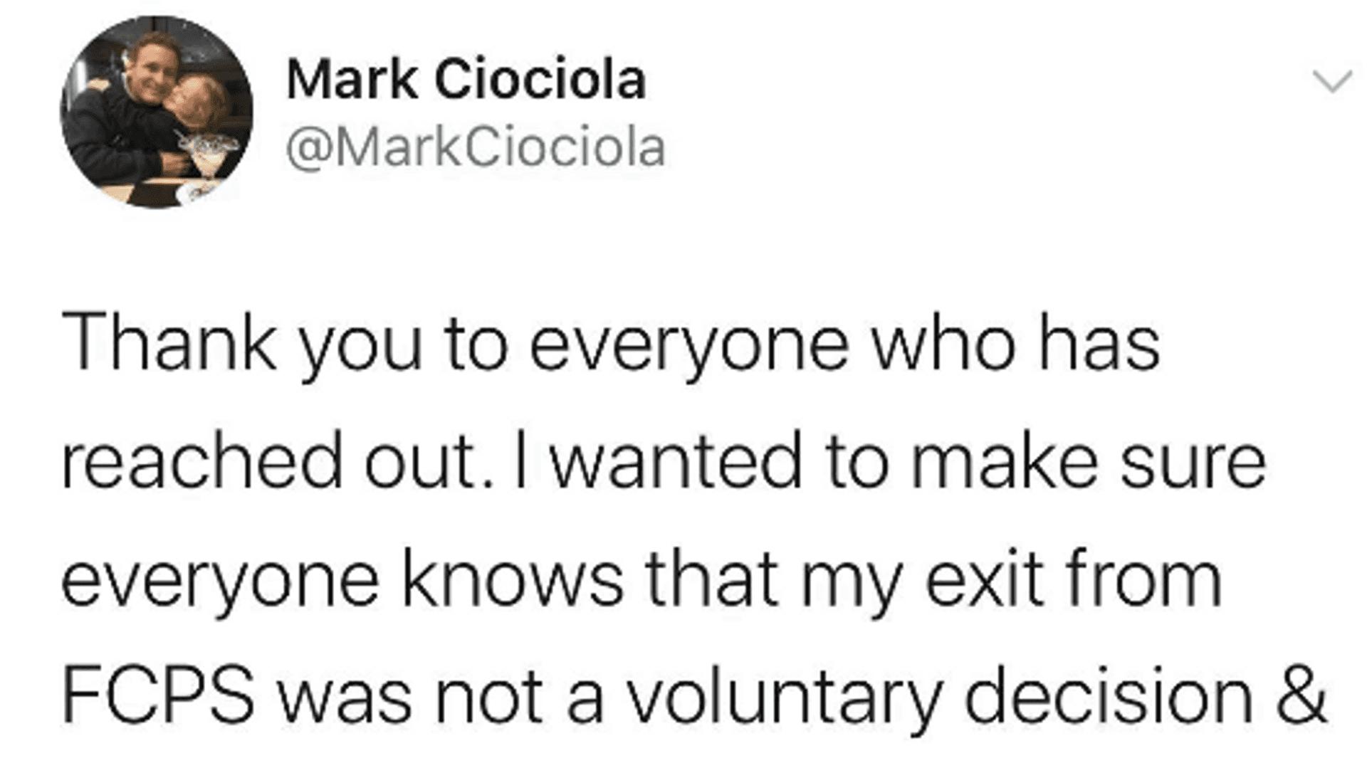 Mark Ciociola wandte sich in den sozialen Medien
