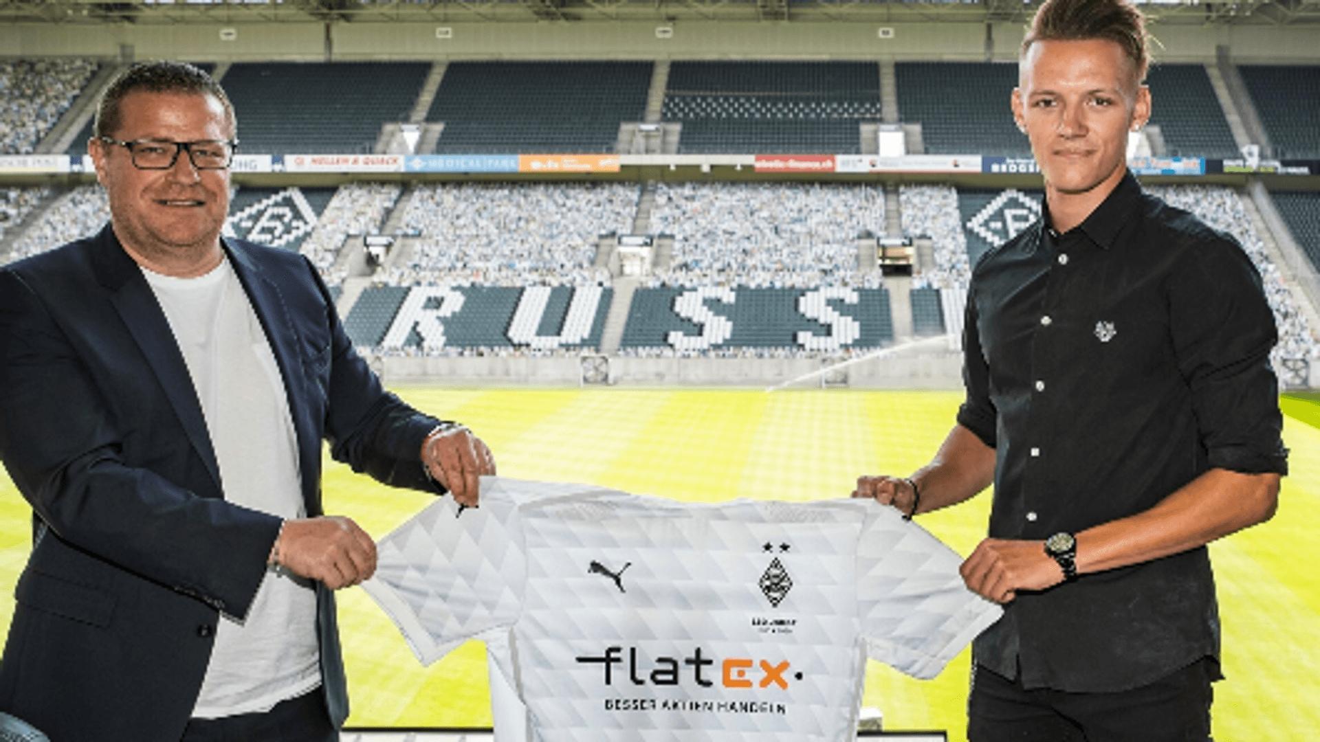 Gladbach-Manager Max Eberl und Hannes Wolf